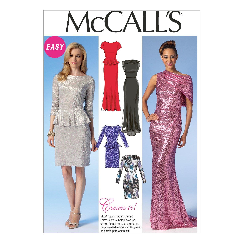 Amazon.com: McCall Pattern Company M7047 Misses\' Dresses Sewing ...