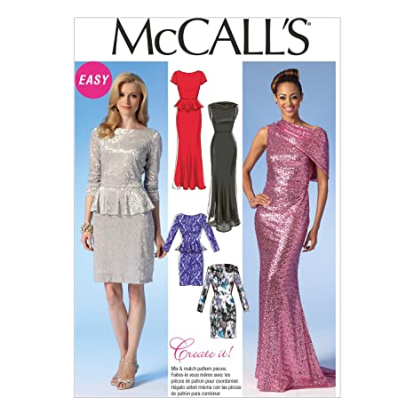 2f43839af33 Image Unavailable. Image not available for. Color  McCall Pattern Company  M7047 Misses  Dresses Sewing Template ...