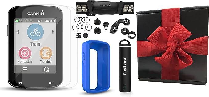 Garmin Edge 820 caja de regalo Bundle con playbetter silicona protectora caso, Hd protectores de pantalla de cristal (2-Pack), cargador portátil, soportes de bicicleta | GPS: Amazon.es: Electrónica