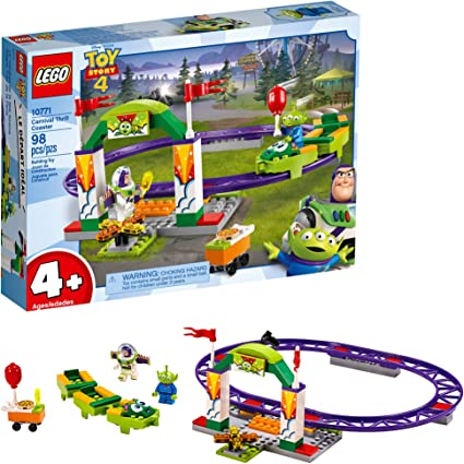 98pcs LEGO Toy Story 4 10771 Carnival Thrill Coaster Age 4