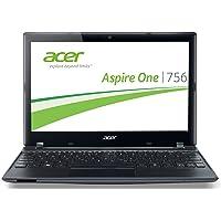 Acer Aspire One 756 29,5 cm (11,6 Zoll) Netbook (Intel Celeron 847, 1,1GHz, 4GB RAM, 320GB HDD, Intel HD, Win 8) schwarz