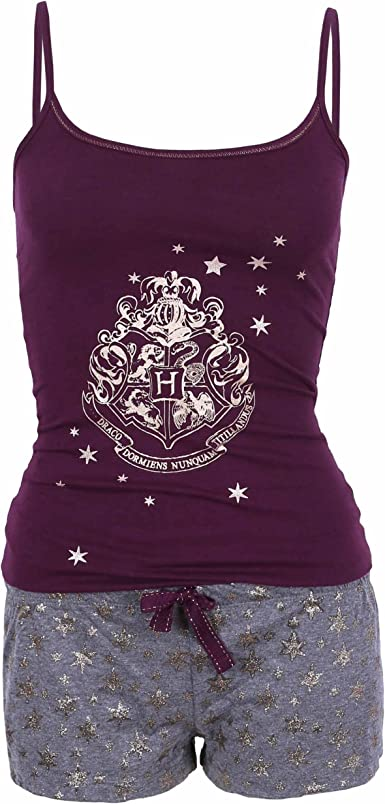 Harry Potter - Hogwarts - Pijama - para Mujer Morado Morado ...