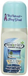 Naturally Fresh Deodorant, Roll On, Ocean Breeze, 3-Ounce Bottles (Pack of 6)