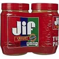2-Count Jif Creamy Peanut Butter, 40 oz.