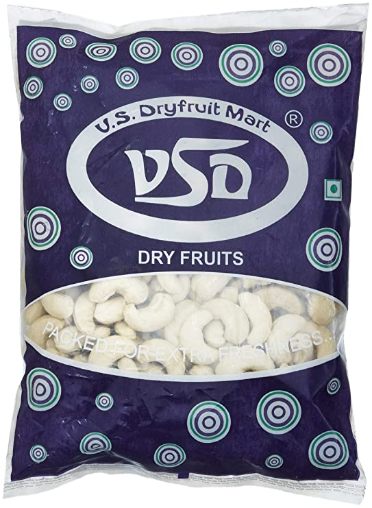 VSD Natural Cashewnuts, 500g Cashews at amazon