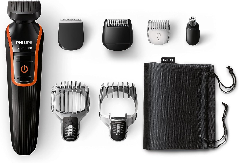 Philips MultiGroom QG3340/16 - Set de arreglo personal para la barba y pelo, resistente al agua, con funda de viaje, color negro y naranja, corriente alterna, batería: Philips: Amazon.es: Salud y cuidado