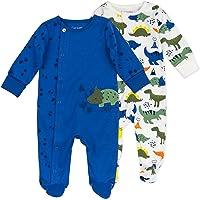 Mac & Moon Organic Cotton 2-Pack Footed Sleep & Play, Baby Boy or Baby Girl