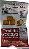 Shrewd Food Brickoven Pizza Keto Protein Crisps | High Protein, Low Carb, Gluten Free Snacks | Real Cheese, No Artificial Flavors | Soy Free, Peanut Free (8-Pack of .74oz Bags)