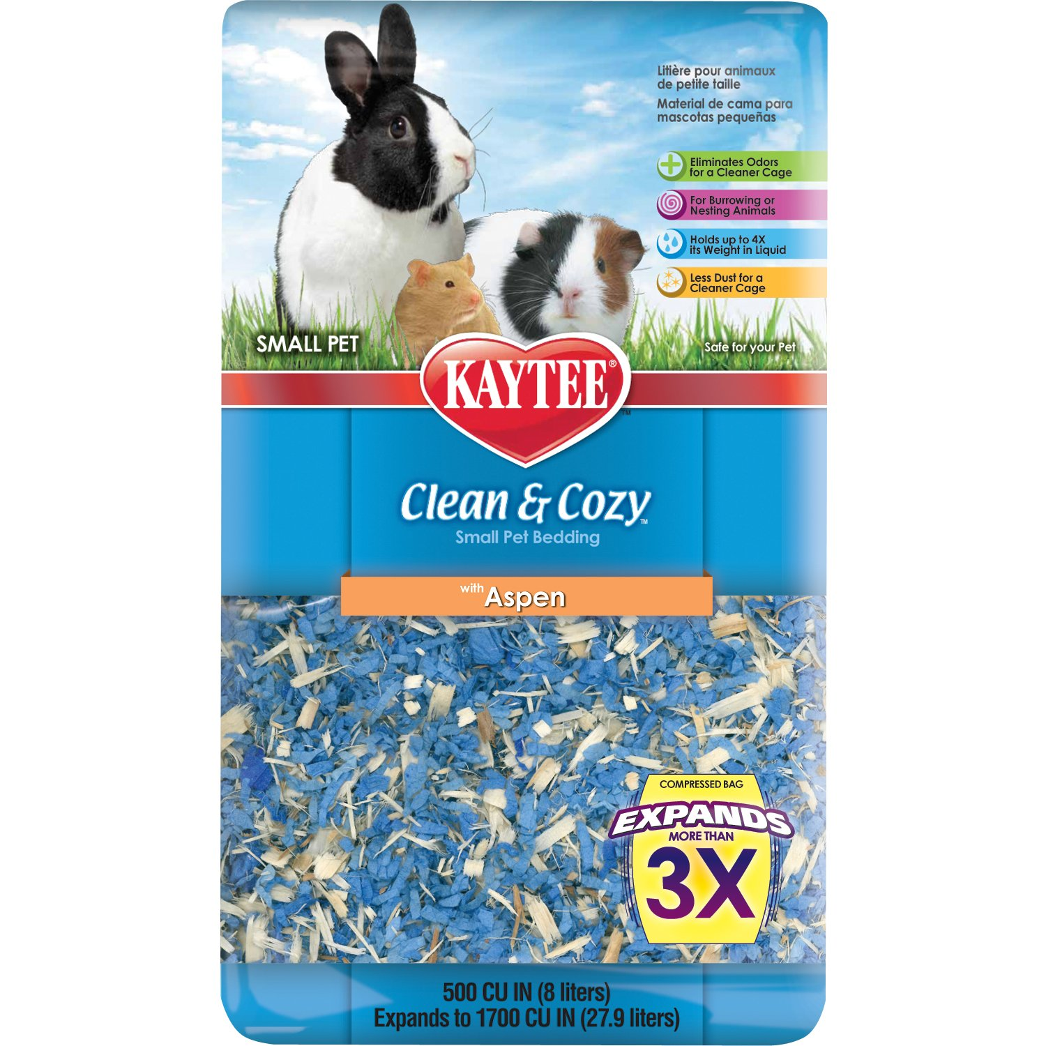 Kaytee Clean and Cozy Aspen Bedding, 500 Cubic Inch