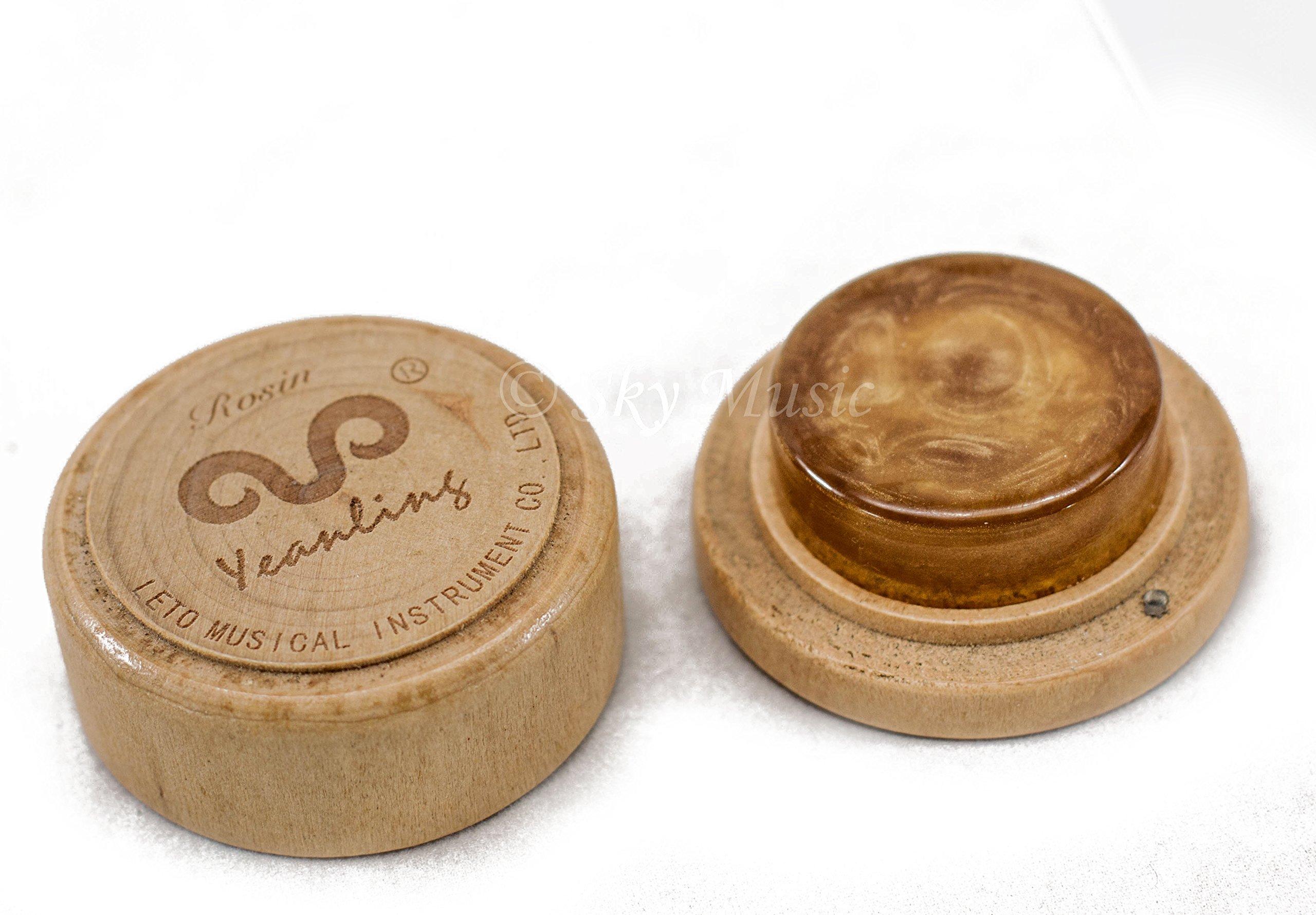 Leto Dust-free Rosin #9001, Containing Gold Powder, for Violin,viola,cello