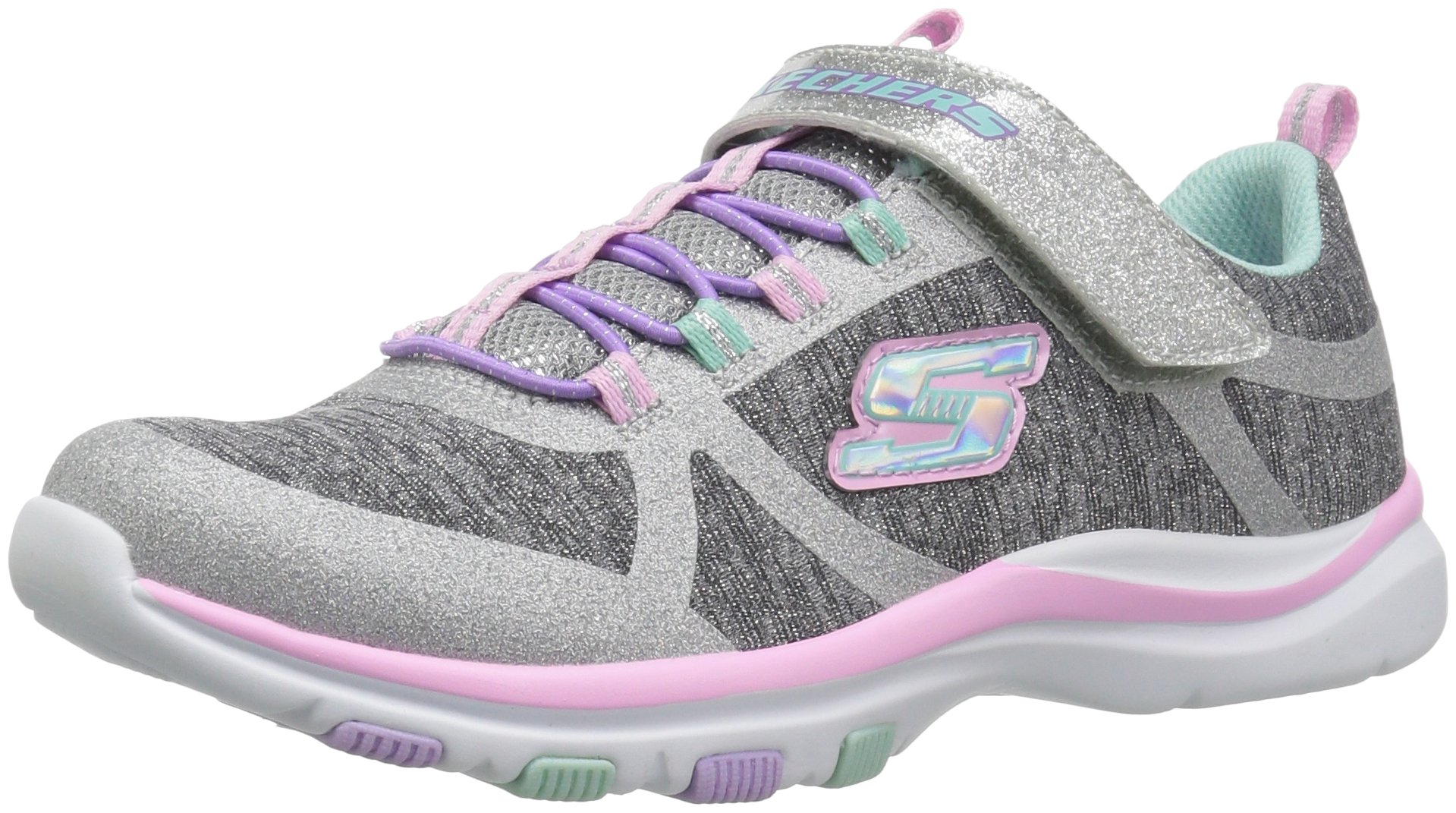 Skechers Kids Girls' Trainer LITE- Jazzy Jumper Sneaker, GYMT, 13 Medium US Little
