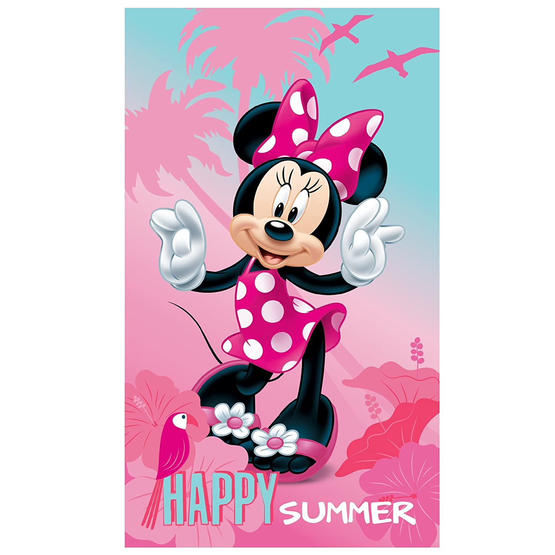 Official Disney Minnie Mouse Polka Dot Cotton Beach Bath Towel