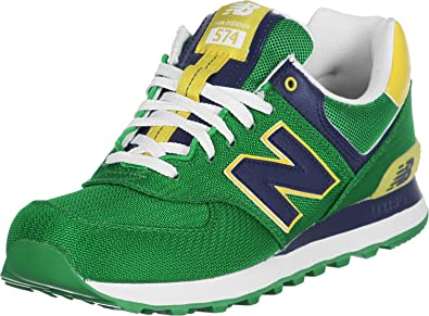 new style ef006 6499f New Balance ML 574 PGN Green Yellow 46.5: Amazon.co.uk ...