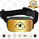 Genius Pet 2020 No Bark Collar for Dog - Premium Anti Bark Device with 4 Modes - Barking Collar Large LCD Display - 6 Sensitivity Adjustable Intensity Levels - Rechargeable for Dogs from 8 to 150 Lbs