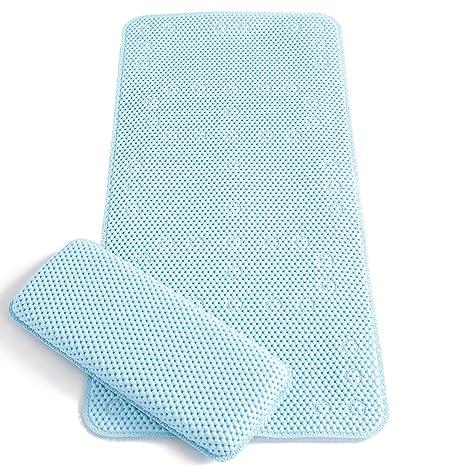 clevamama tapis de bain antidrapant bb tapis baignoire blue - Tapis De Bain Antiderapant