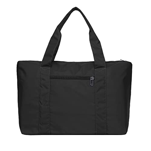 1d4b601e9 Amazon.com: Large Foldable Travel Duffel Bag, Waterproof Soft Oxford Nylon  Lightweight Carry-on Tote Duffel in Trolley Handle: Shoes