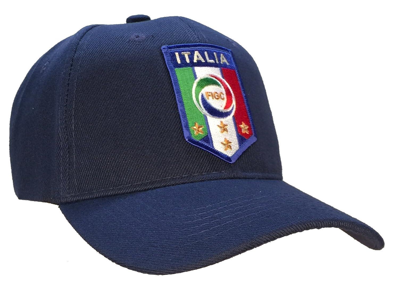 Amazon.com  Italy Italia National Football Team FIGC Hat Blue Soccer Ball  Cap  Toys   Games e13cebea0bb