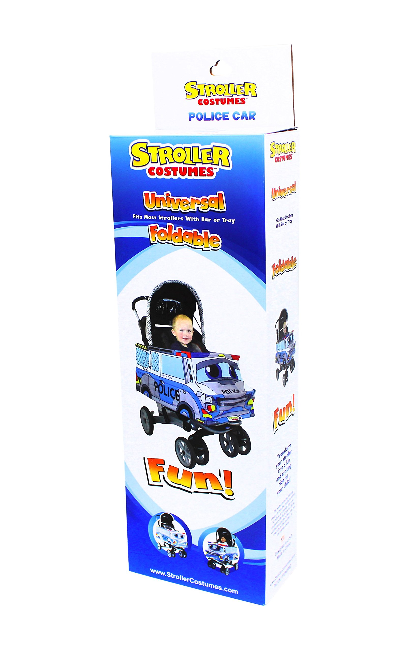Police Car Stroller Costume Turns Stroller Into a Ride on Baby/Toddler Car Toy