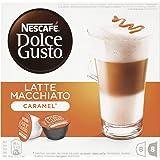 NESCAFÉ Dolce Gusto | Capsulas de Café Latte Macchiato Caramel | Pack de 3 x 16 Cápsulas - Total: 48 Cápsulas