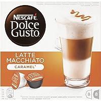NESCAFÉ Dolce Gusto Café Latte Macchiato Caramel | Pack de 3 x 16 Cápsulas - Total: 48 Cápsulas de café
