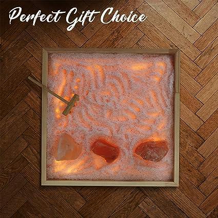 Amazon Himalayan Glow Tabletop Zen Garden Himalayan Pink Salt