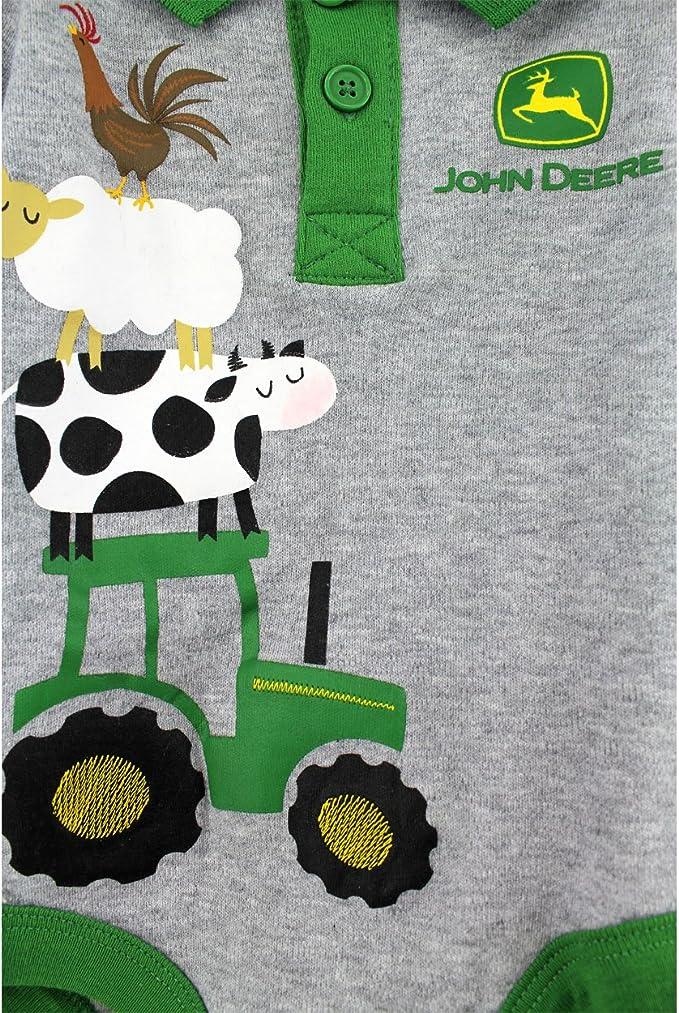 John Deere Tractor Pull /à capuche en polaire pour b/éb/é gar/çon
