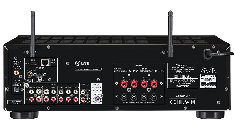 Pioneer SX-N30AE-B - Receptor estéreo, Color Negro