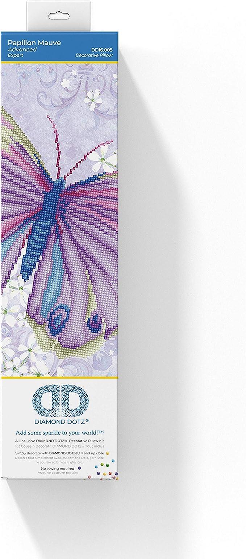 Diamond Painting Kit Dotz DECORATIVE PILLOWCASE PAPILLON BLUE 45 x 45cm
