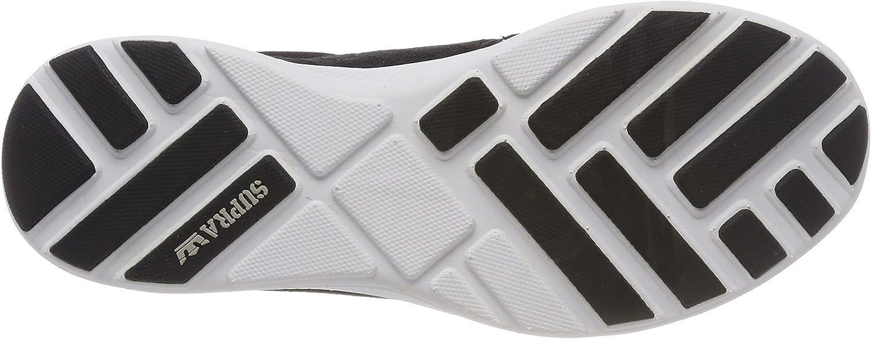 Supra Hammer Run, Sneakers Basses Homme Noir Black Lt Grey White