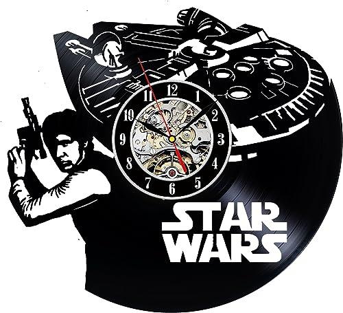 Decorative Vinyl Record Wall Clock Gift Star Wars Han Solo