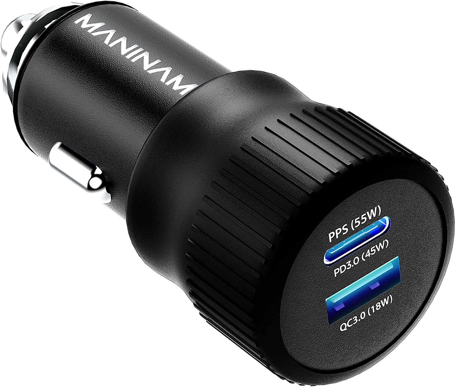 MANINAM Super Fast USB C Car Charger for Samsung S21 S20 Ultra Note 20 10 Plus Super Fast Charging 2.0 [73W Turbotive] Pro 55W PPS Charger Adapter for iPhone 12 11 MacBook Laptops (Cable Not Included)