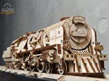 UGEARS V-Express Steam Train with Tender 3D