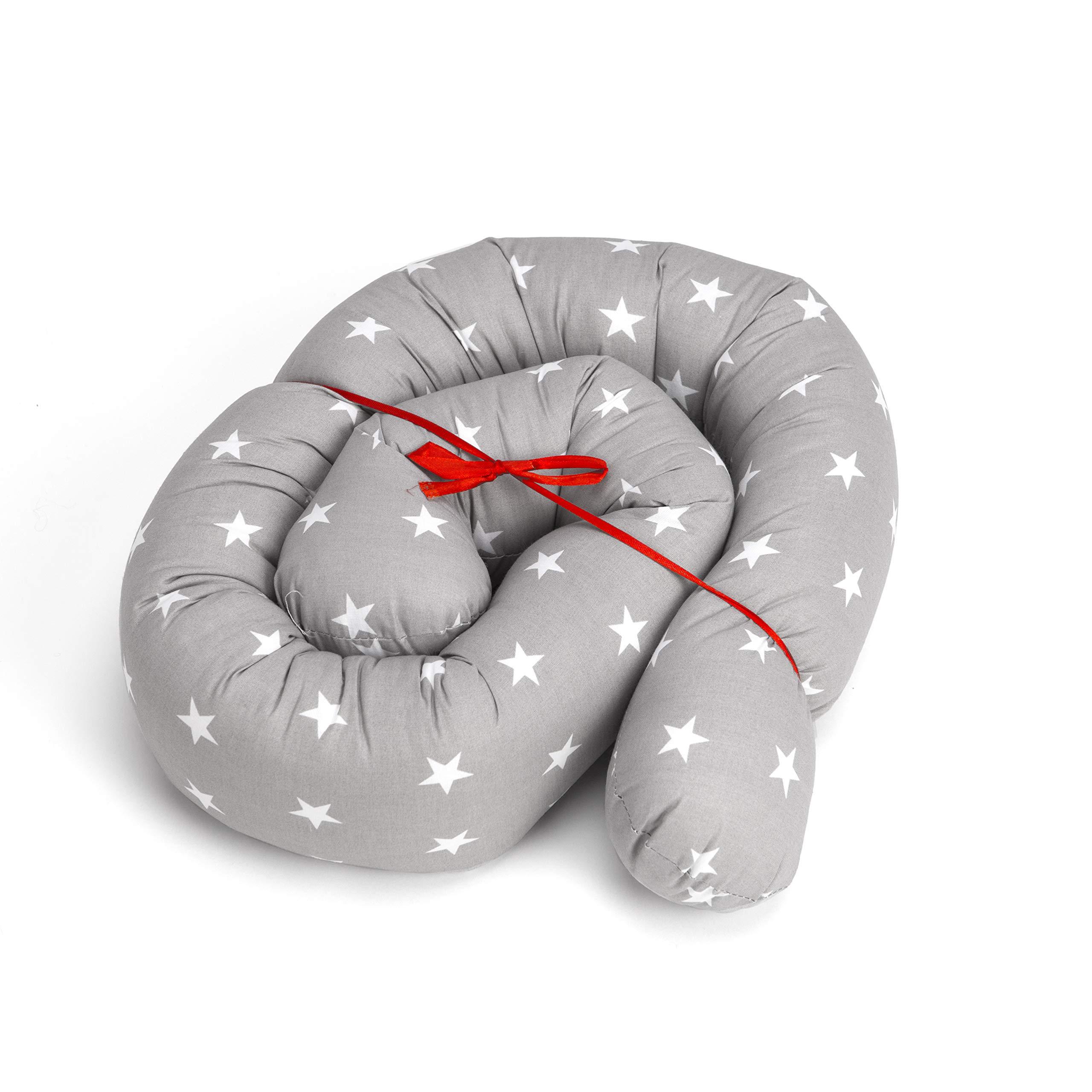 Serpiente para cuna, tamaño y colores a elegir, para cuna de bebé blanco Grau