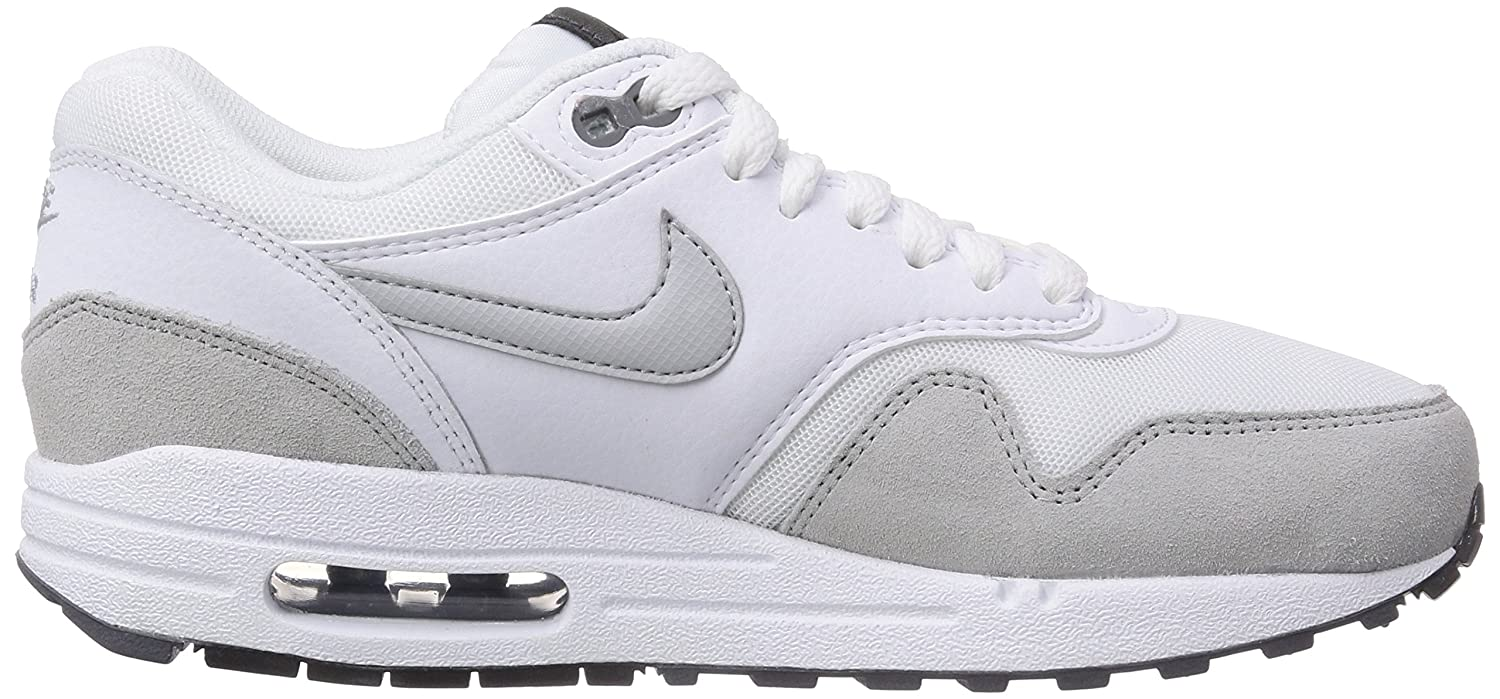 Amazon.com: Nike Womens Air Max 1 Essential Exercise Jogging Running  Sneakers - White/Gray - 9.5: Sports & Outdoors