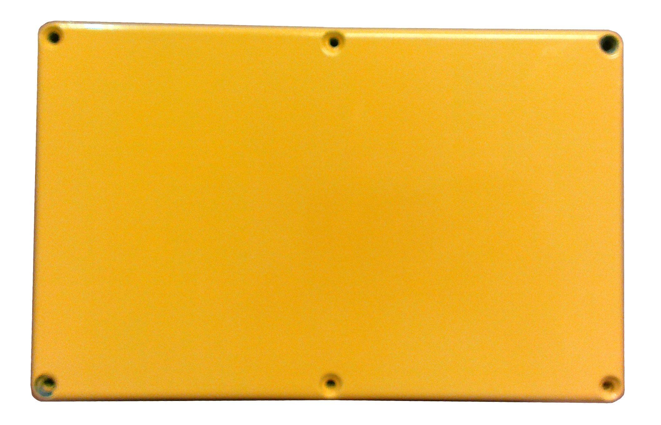 Hammond 1590EYL Yellow Diecast Aluminum Enclosure -- Inches (7.38'' x 4.70'' x 3.07'') mm (188mm x 120mm x 78mm)