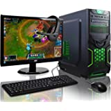 ADMI GAMING PC PACKAGE: Powerful Desktop Computer, 21.5 Inch 1080p Monitor, Keyboard & Mouse Set (AMD Kaveri A8-7650K 3.8GHz Radeon R7 Quad Core APU Processor, USB 3.0, 500W PSU, 1TB Hard Drive, 8GB RAM, 24 x DVDRW Drive, Wifi, Goblin Gaming Case, Pre-Installed with Windows 10 Operating System)