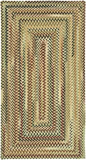 "product image for Capel Bangor Amber 0' 24"" x 8' 0"" Runner Concentric Rectangle Braided Rug"