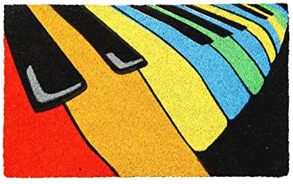 Onlymat Piano Coir Door Mat - 45 cm x 75 cm Doormats at amazon