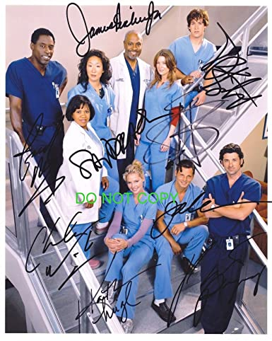 Greys Anatomy Tv Show Cast Reprint Signed Autographed Photo Rp At