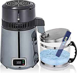 Water Distiller - Countertop Home Water Purifier for Distilled Water - Water Purifier for Home, Office, Kitchen& Travel - 4L Distilled Water Machine - 110V US Plug - TDS Meter Included