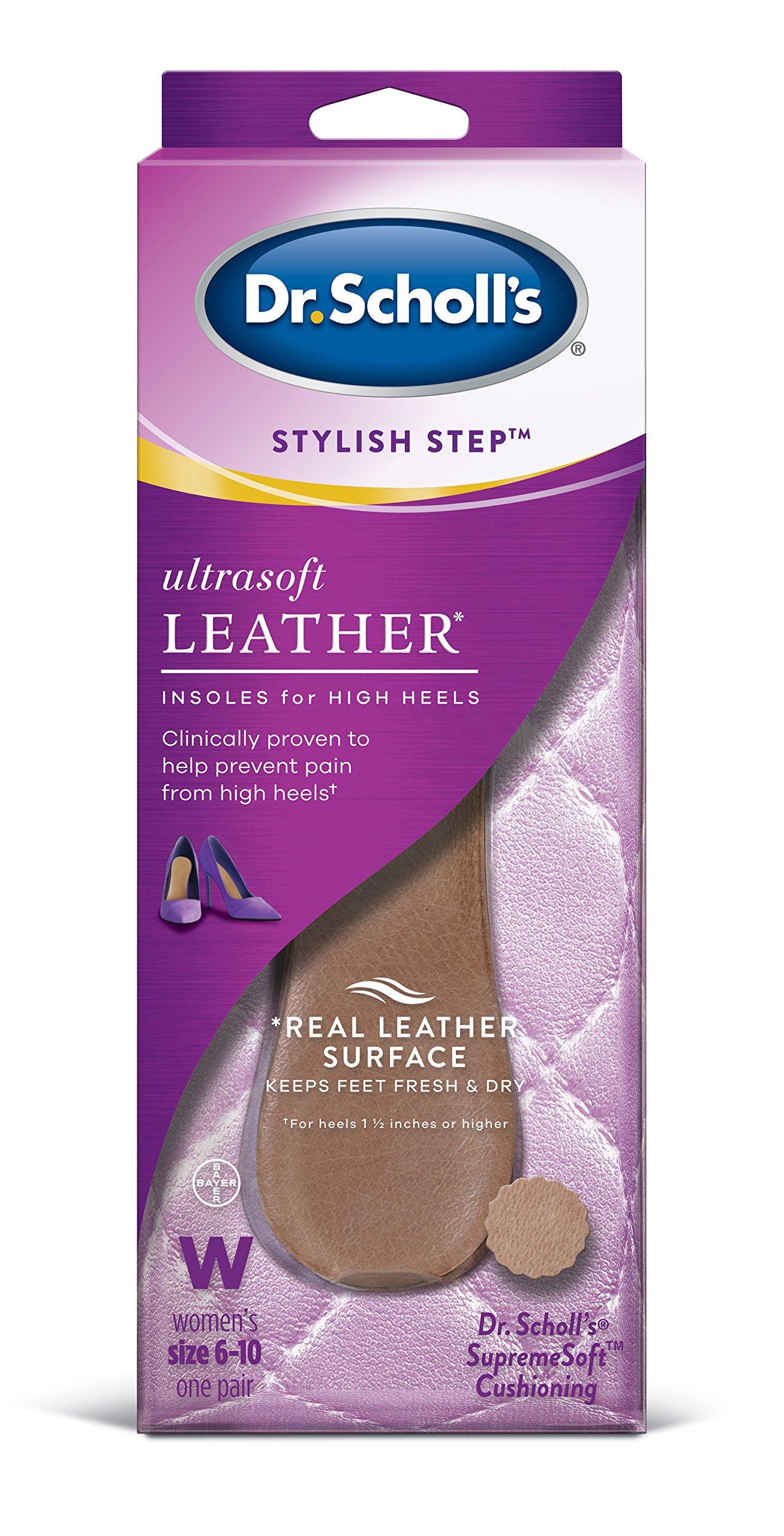 8fad476eef Dr. Scholl's Ultrasoft Leather Insoles for High Heels (Women's 6-10) /