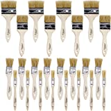 Artlicious - Pure Hog Bristle Chip Paint Brushes Super Pack (Assorted Sizes - 24 Pack)
