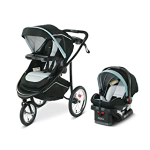 Graco Modes Jogger 2.0 Travel System | Includes Jogging Stroller and SnugRide SnugLock 35 LX Infant Car Seat, Ferris