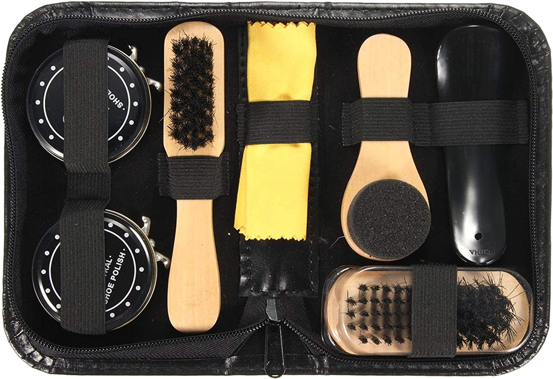 ALONGB Color Negro Juego de cepillos para Botas y Zapatos