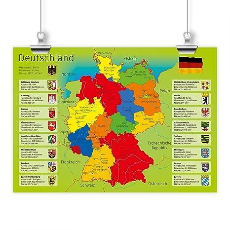 Kinder Lernposter Deutschland A1 A2 A3 Grosse Din A3 420 X 297 Mm