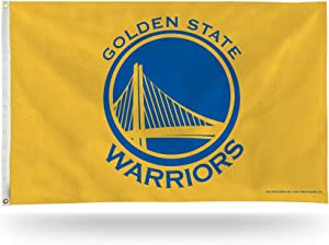 Rico Industries FGB96004 NBA Golden State Warriors 3-Foot by 5-Foot Single Sided Banner Flag with Grommets, Yellow