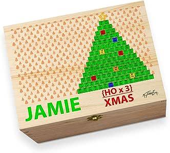 Árbol de Navidad de la tabla periódica Geek impreso para niños, personalizable Nochebuena caja: Amazon.es: Hogar