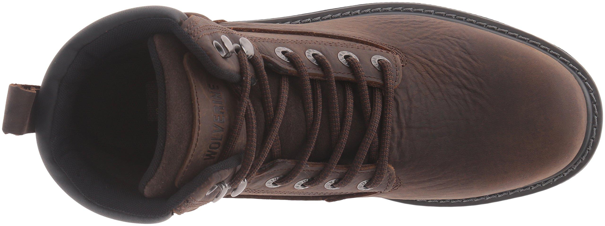 Wolverine Men's Floorhand 6 Inch Waterproof Steel Toe Work Shoe, Dark Brown, 9.5 M US by Wolverine (Image #8)