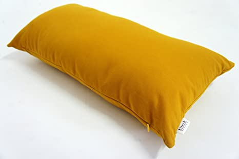 Amazon.com: Plain Mostaza Amarillo Throw almohada 12 x 24 ...