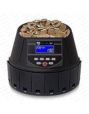Contador de monedas Euro Máquina monedas clasificadora Contar Dinero Sr de 1450 LCD de Securina24 ®